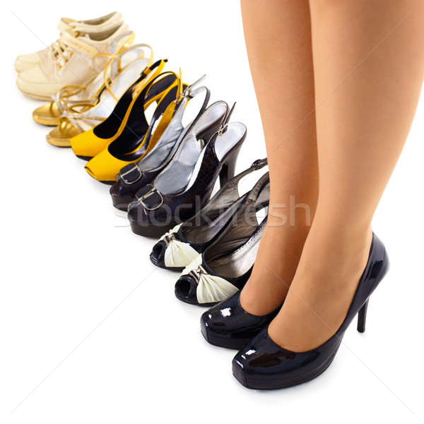 Set of summer shoes for modern woman Stock photo © pzaxe
