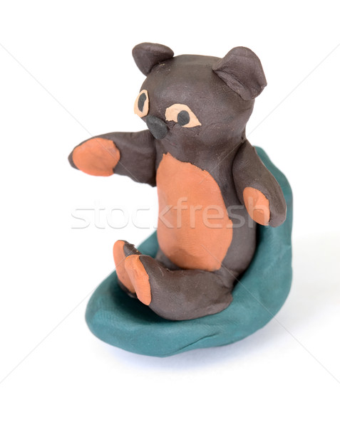 Bear stuck together from plasticine Stock photo © pzaxe