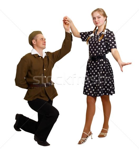 ペア ダンス 60年代 若者 孤立した ストックフォト © pzaxe