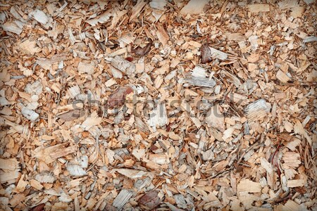 Waste of woodworking manufacture - sawdust background Stock photo © pzaxe