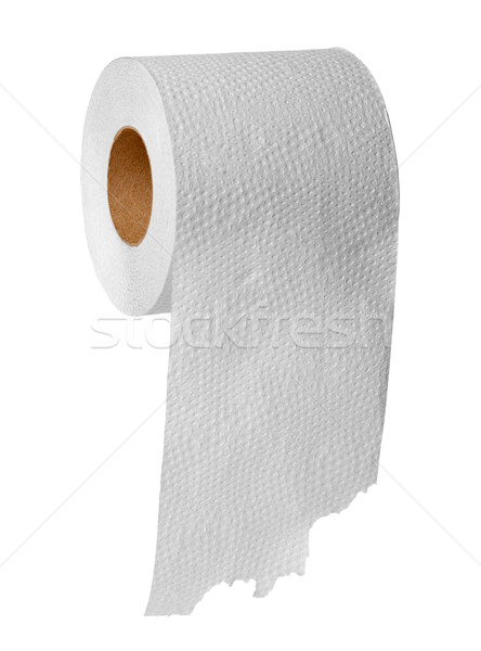 Carta igienica bianco rotolare grigio isolato sfondo Foto d'archivio © pzaxe