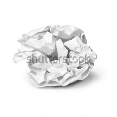 Crumpled sheet of paper Stock photo © pzaxe