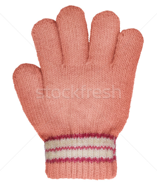 Children's knitted woolen glove Stock photo © pzaxe