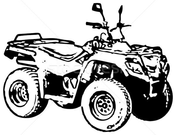 Four-wheel motorbike ATV. Vector. Stock photo © pzaxe