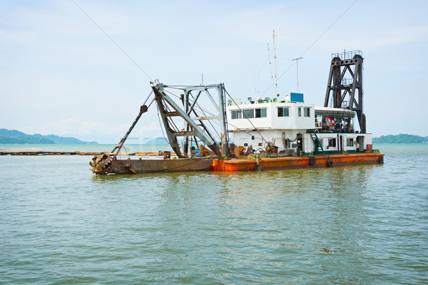 Old dredge. Thailand Stock photo © pzaxe