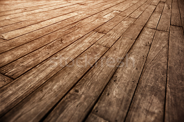 Old wooden parquet floor grunge photographic vintage background Stock photo © pzaxe