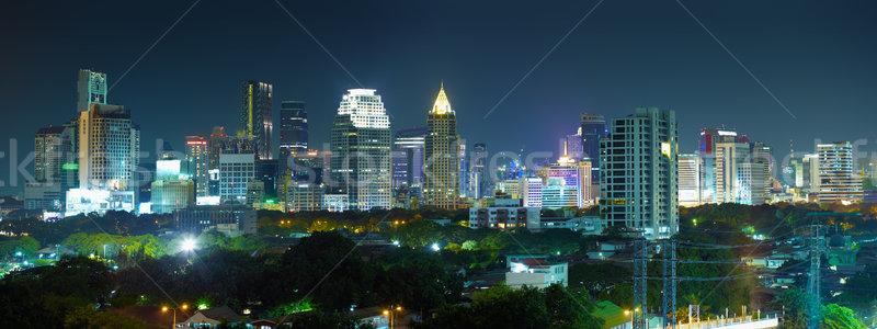 Stock photo: Panorama night city -  Thailand, Bangkok
