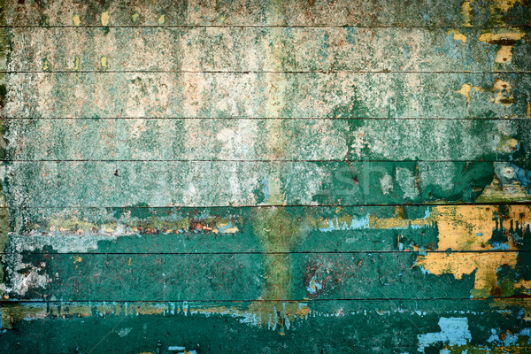 Surface is covered by old rotting peeling boards Stock photo © pzaxe