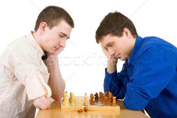 Men play chess Stock photo © pzaxe