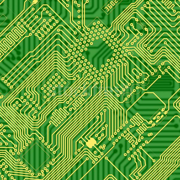 Foto d'archivio: Verde · stampata · industriali · circuito · texture · grafico