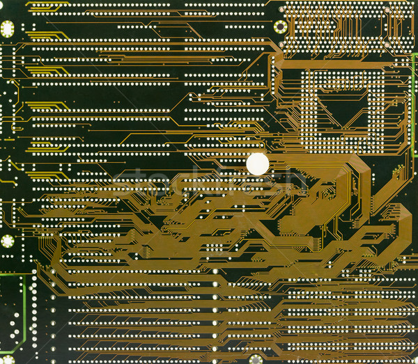 Circuit board electronic darck green background Stock photo © pzaxe