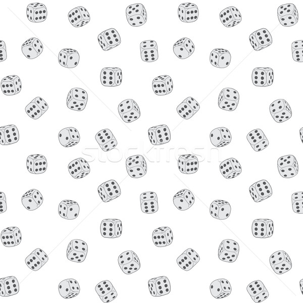 Vector texture - dices background Stock photo © pzaxe