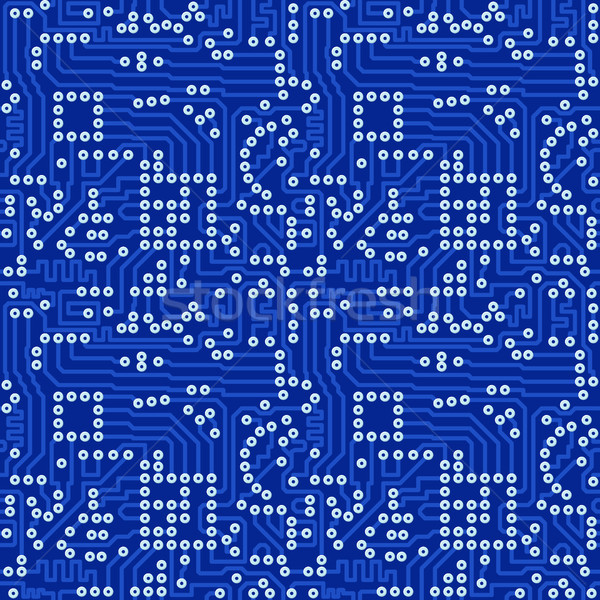 Blue electronic circuit board with gray solder vector seamless p Stock photo © pzaxe
