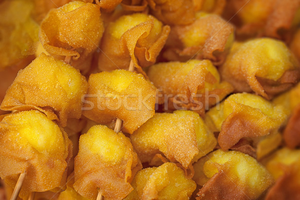 Photo of deep fried quail egg wontons Stock photo © pzaxe