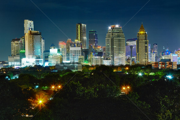 Brilhante luzes cidade metrópole negócio céu Foto stock © pzaxe