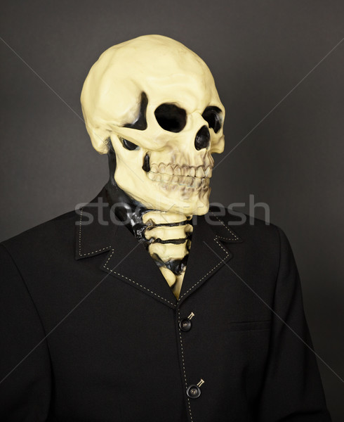 Portrait of death in business suit Stock photo © pzaxe