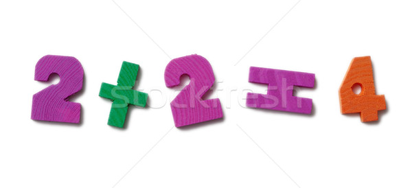 Teaching material for studying of mathematics Stock photo © pzaxe