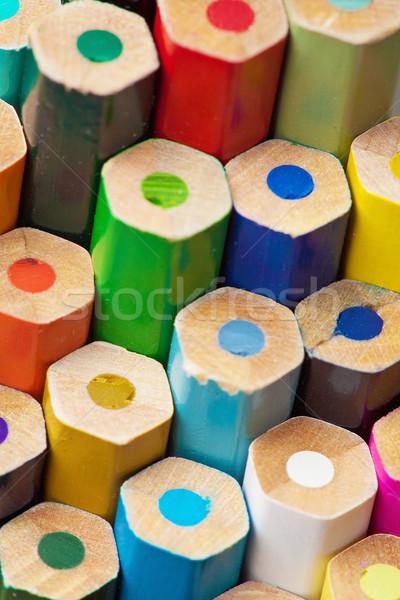 Ends of color pencils Stock photo © pzaxe