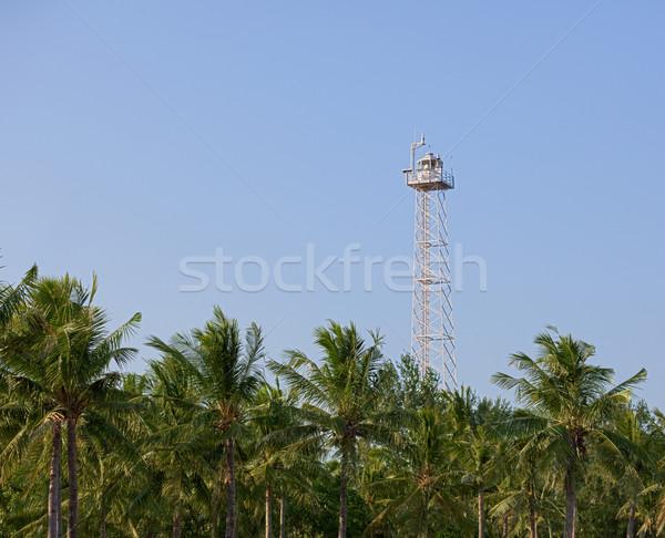 Modern lighthouse on Gili island. Indonesia. Stock photo © pzaxe