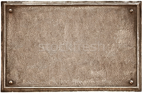 Old cast-iron plaque on white Stock photo © pzaxe