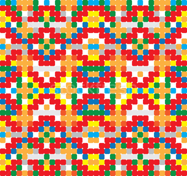 Seamless vector pattern - cross-stitch style Stock photo © pzaxe