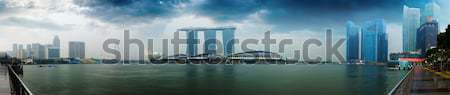 Singapore skyline - hotels and offices with reflection panorama Stock photo © pzaxe