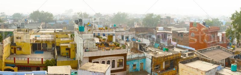 Panorama of indian city - Agra Stock photo © pzaxe