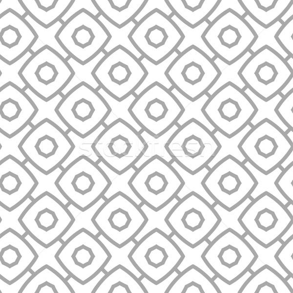 単純な 幾何学的な ベクトル グレー ストックフォト © pzaxe