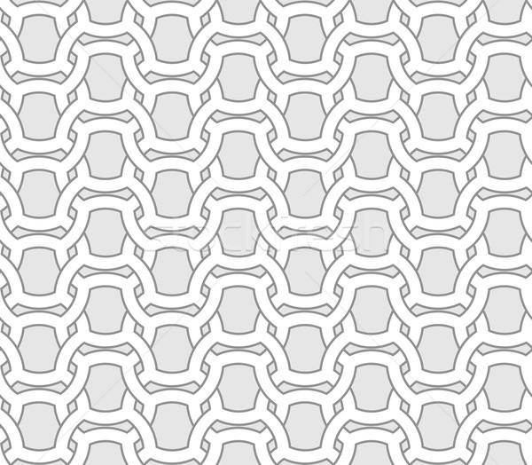 Abstract seamless geometric vector pattern - entwined grides on  Stock photo © pzaxe