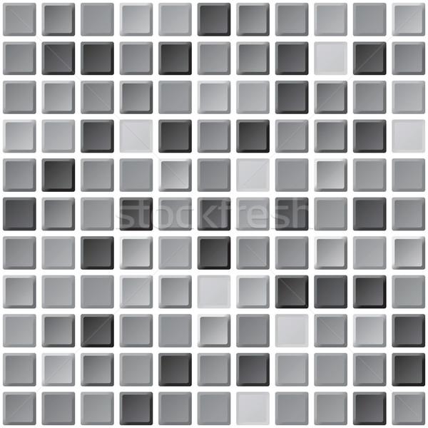 Bathroom monochrome black and white tiles vector seamless patter Stock photo © pzaxe