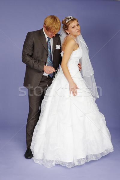 Esküvő lány öltöny fiatal korona női Stock fotó © pzaxe