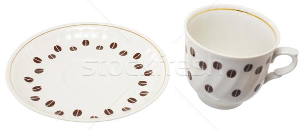 Csésze csészealj kávé szett fehér Stock fotó © pzaxe