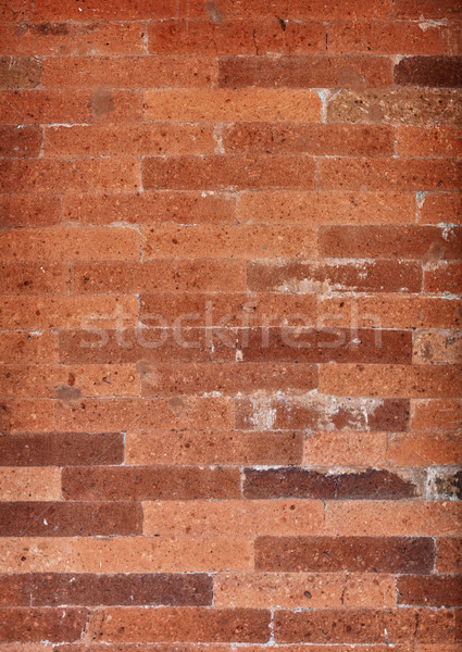 Specific red brickwork background. Indonesia. Stock photo © pzaxe