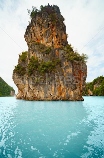 Caliza isla costa Tailandia phuket alto Foto stock © pzaxe