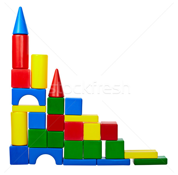 Tower of color toy blocks Stock photo © pzaxe