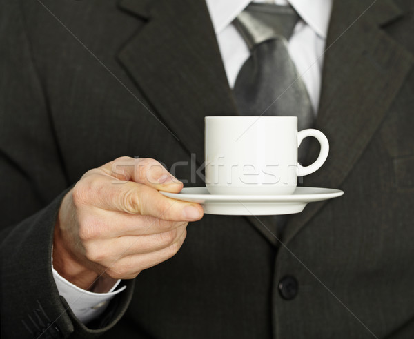 Tasse de café main affaires besoin pause Photo stock © pzaxe