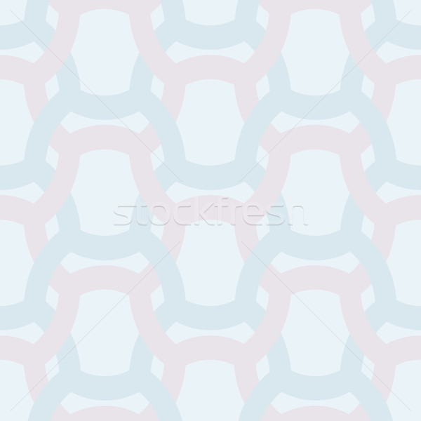 Abstract simple geometric seamless vector pattern - entwined col Stock photo © pzaxe
