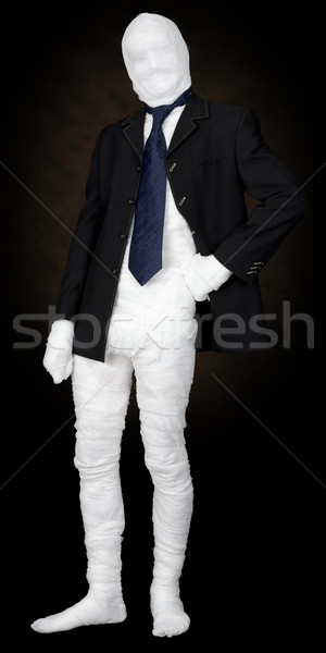 Mummy in jacket and tie Stock photo © pzaxe