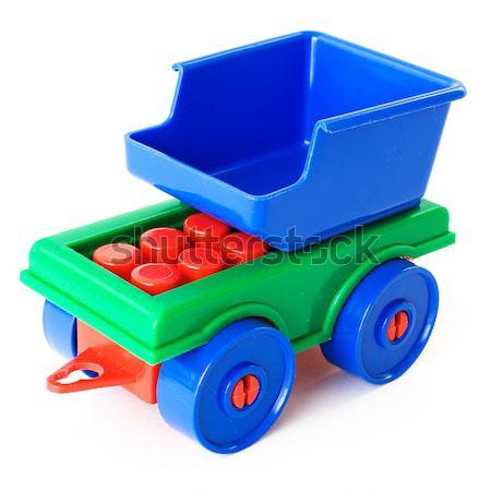 おもちゃ キャリッジ プラスチック 白 ストックフォト © pzaxe