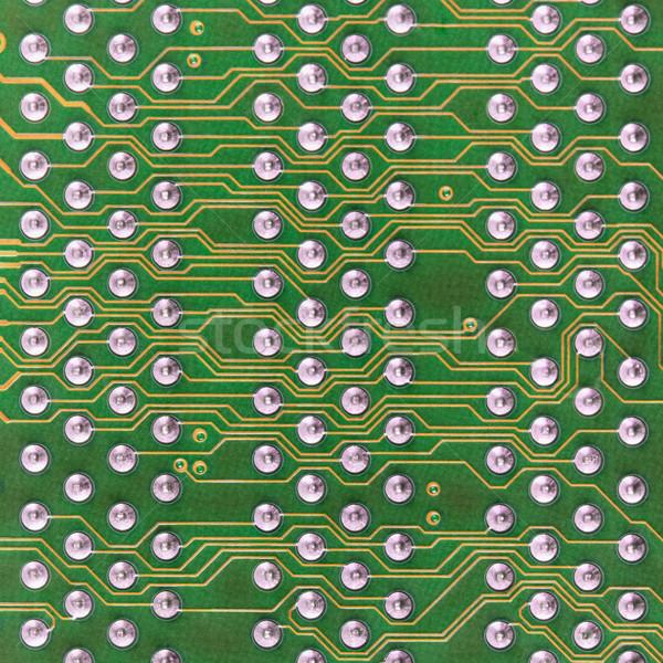 Stockfoto: Circuit · board · elektronische · groene · vierkante · patroon · industriële
