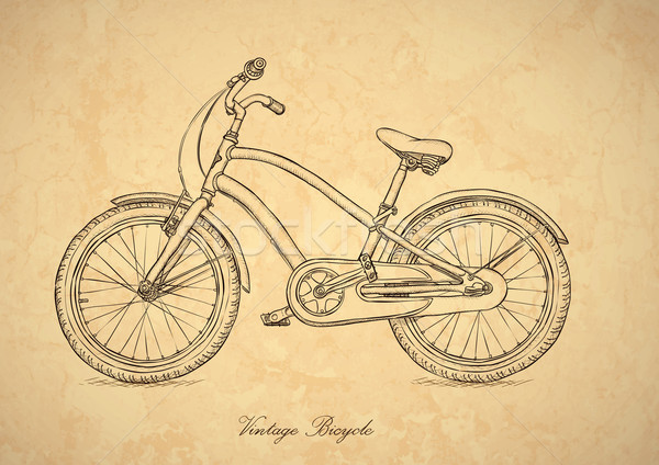 Vintage bicicletta vettore stile retrò carta arte Foto d'archivio © pzaxe