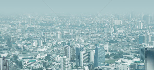 City skyline through the thick smog Stock photo © pzaxe