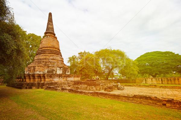 ősi romok buddhista templom Thaiföld világ Stock fotó © pzaxe