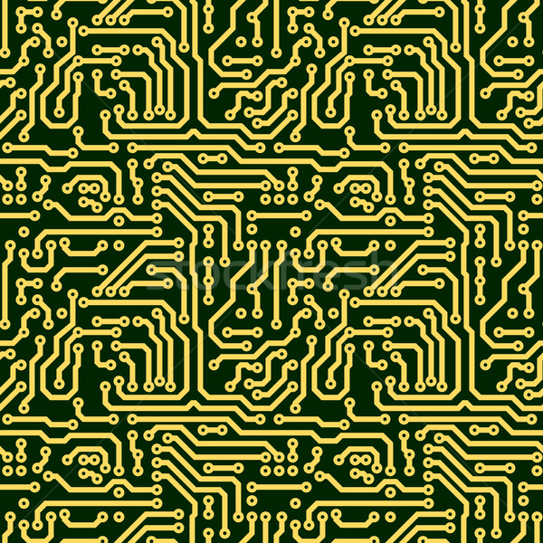 Abstract naadloos textuur circuit board groene elektronische Stockfoto © pzaxe