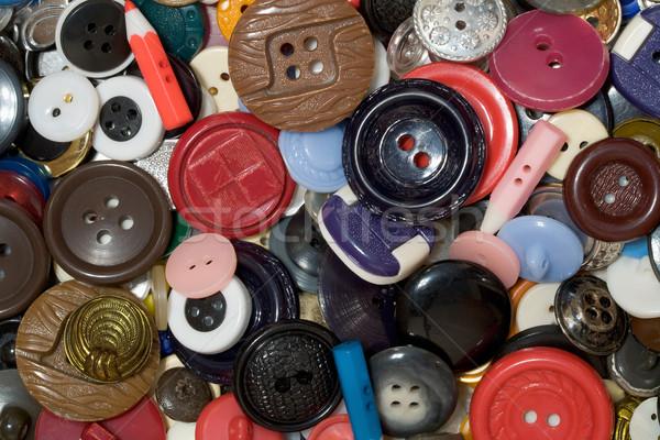 Tarka műanyag gomb fényképezés közelkép textúra Stock fotó © pzaxe