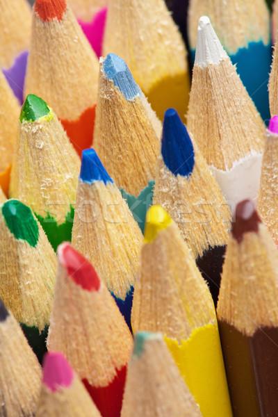 Conseils couleur crayons crayon orange Photo stock © pzaxe