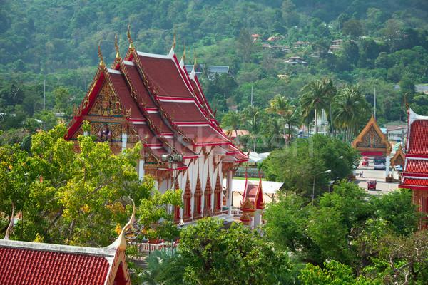 Buddhist temple - Thailand, Phuket, Wat Chalong. Stock photo © pzaxe