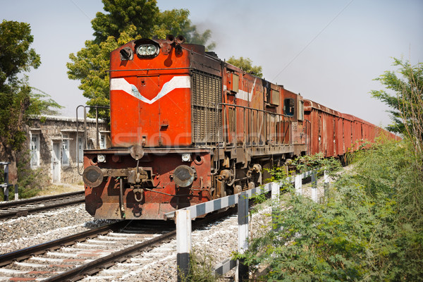 Vieux locomotive train Inde voiture Photo stock © pzaxe