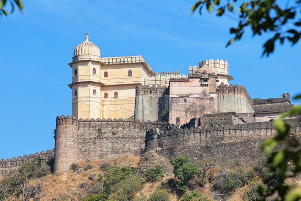 Inspiring View of Kumbhalgarh Fortress near Udaipur, India Stock photo © pzaxe