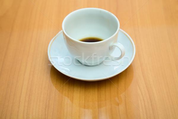 Copo não bêbado para cima xícara de café mesa de café Foto stock © pzaxe